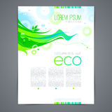 Eco template page design Stock Photos