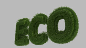 Eco text 3D Stock Photos