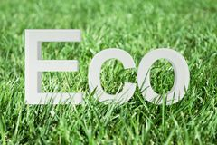 Eco text Stock Photo