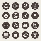 Eco theme icons set Royalty Free Stock Images