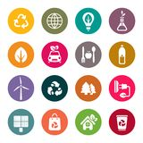 Eco theme icons set Royalty Free Stock Photo