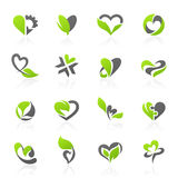 Eco-themed vector logo template set