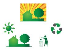 Eco themes Royalty Free Stock Images