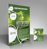 Eco Think Green Flyer Royalty Free Stock Image