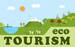 Eco tourism royalty free illustration