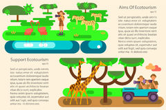 Eco tourism concept royalty free illustration
