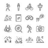 Eco tourism line icon set.  Stock Images