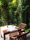 Eco tourism - Natural Outdoor dining area Stock Photos