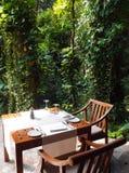 Eco Tourismus - natürlicher im Freien Speiseraum Stockfotos