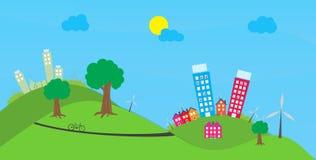 Eco town Stock Illustrationer