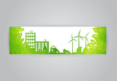 Eco town banner Stock Images