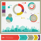 Eco town infographics Royalty Free Stock Photo