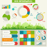 Eco town infographics Stock Photography