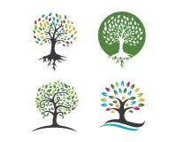 Eco träd Logo Template Royaltyfri Bild