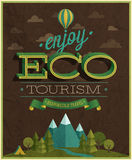 Eco Travel poster. Royalty Free Stock Photo