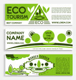 Eco travel and tourism banner template design Stock Photography