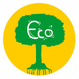 Eco tree icon Stock Photos