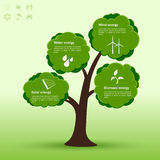 Eco-tree infographic Royalty Free Stock Photography