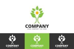 Eco Tree Logo Having Leaves Isolated on White Background royalty free illustration