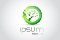 Eco tree logo symbol illustration design Stock Photography