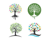 Eco Tree Logo Template Royalty Free Stock Image