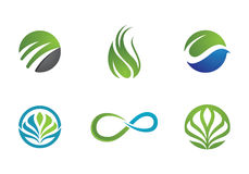 Eco Tree Logo Template Royalty Free Stock Images