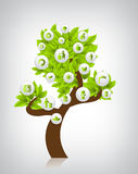 Eco tree vector illustration Royalty Free Stock Photos