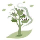 Eco trees house Stock Image