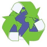 Eco triangulaire vert Photographie stock