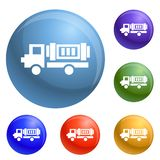 Eco truck icons set vector royalty free illustration