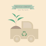 Eco truck Royalty Free Stock Image