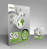 Eco ulotka Obrazy Royalty Free