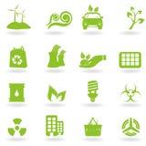 Eco und grüne Ikonen Stockbild