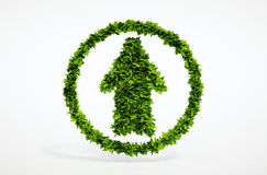 Eco up arrow icon Royalty Free Stock Photo