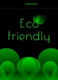 Eco vänlig begreppsbakgrund royaltyfri illustrationer