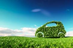 Eco vänlig bilutveckling, klar ekologi som kör, ingen pollutio vektor illustrationer