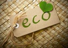 Eco vänlig etikett Royaltyfri Bild