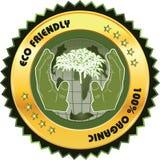 Eco vänlig etikett Fotografering för Bildbyråer