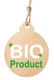 Eco vänlig etikett, Bio produkt Fotografering för Bildbyråer