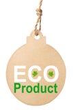 Eco vänlig etikett, ecoprodukt Fotografering för Bildbyråer