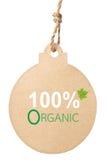 Eco vänlig etikett, organisk 100% Arkivbild