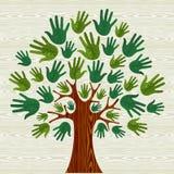 Eco vänliga Treehänder royaltyfri illustrationer