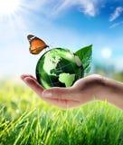 Eco-vänskapsmatch begrepp royaltyfria foton