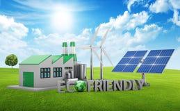 Eco-vänskapsmatch begrepp royaltyfria bilder