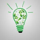 Eco-vänskapsmatch lampa royaltyfri illustrationer