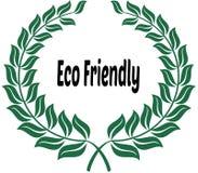ECO-VÄNSKAPSMATCH på grön lagerklistermärkeetikett royaltyfri illustrationer
