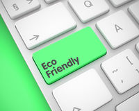 Eco vänskapsmatch - text på den gröna tangentbordknappen 3d Royaltyfria Bilder