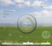 Eco vector backgroung Royalty Free Stock Images