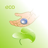 Eco vector illustration. Eco drop of water vector illustration Royalty Free Stock Images