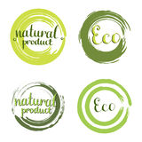 Eco vector set with circle frames, design elements Stock Photos